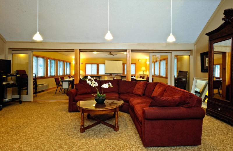 Lounge area at Silver Fox Inn.