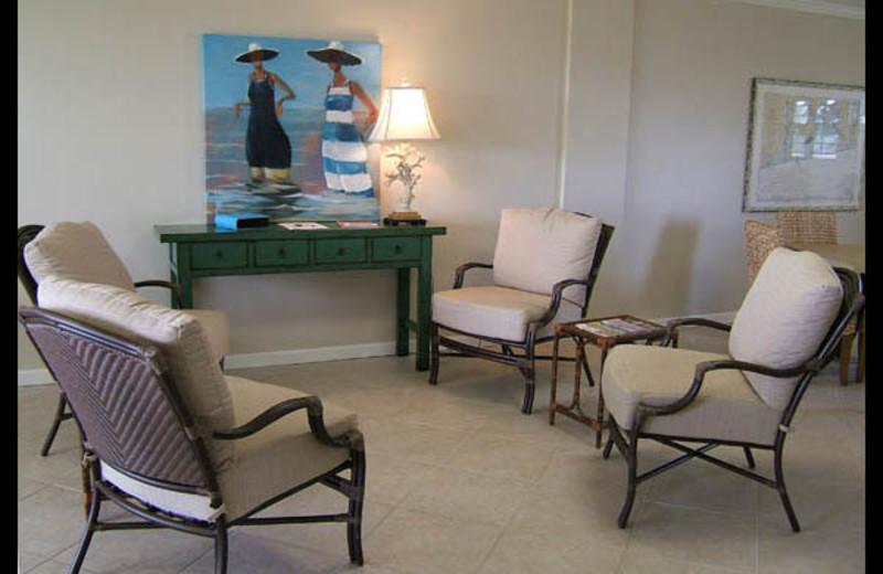 Rec room at Seafarer Condominiums.