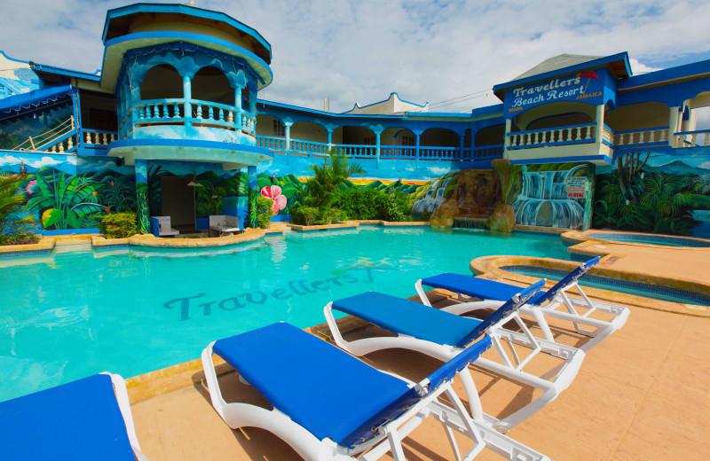 Outdoor pool at Travellers Beach Resort.