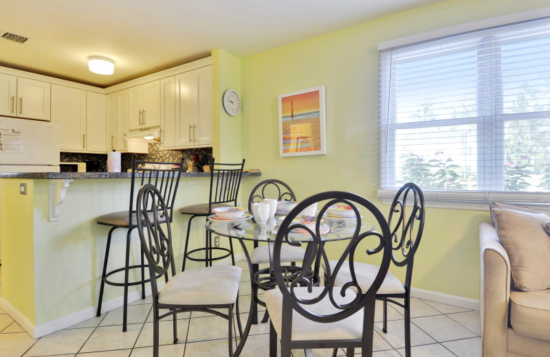 Rental kitchen at Luxury Rentals by At Home in Key West.