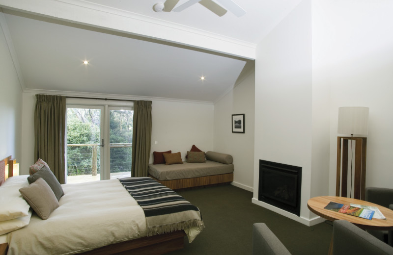 Guest room at Cradle Mountain Lodge.