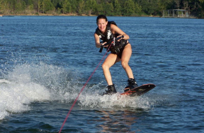 Water skiing at Vacation Home in Branson.