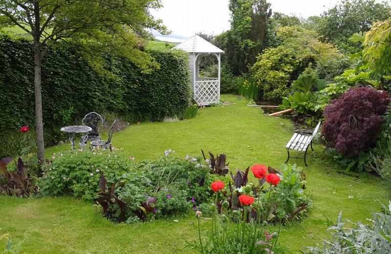 Garden view at Corfe Gate House.