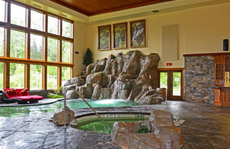 Indoor pool at The Lodge at Whitefish Lake.