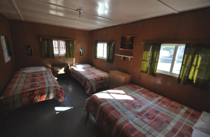 Cabin bedroom at Wolseley Lodge.