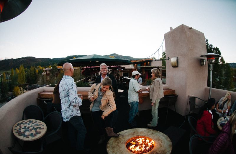 Fire Pit at Chipeta Solar Springs Resort