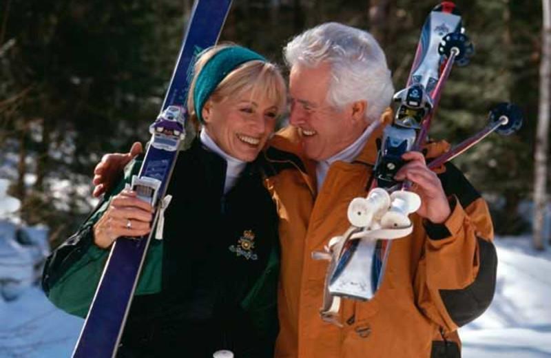 Skiing at Brophy Lake Resort.