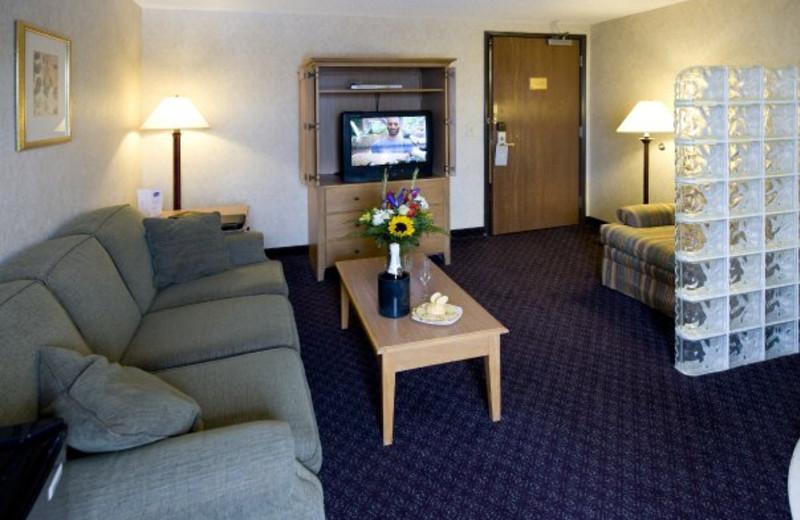 Suite living room at ParkShore Resort.