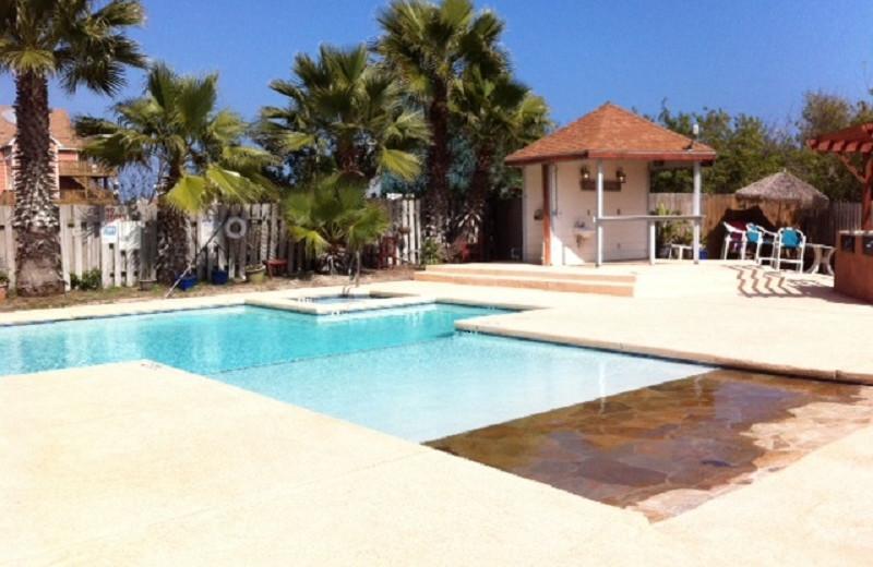 Outdoor pool at Sea Breeze Suites Port Aransas.