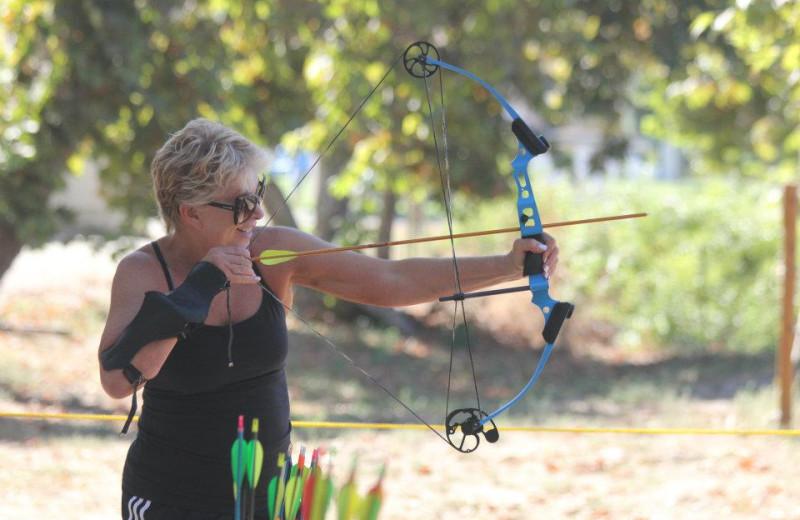 Archery practice at Wonder Valley Ranch Resort.