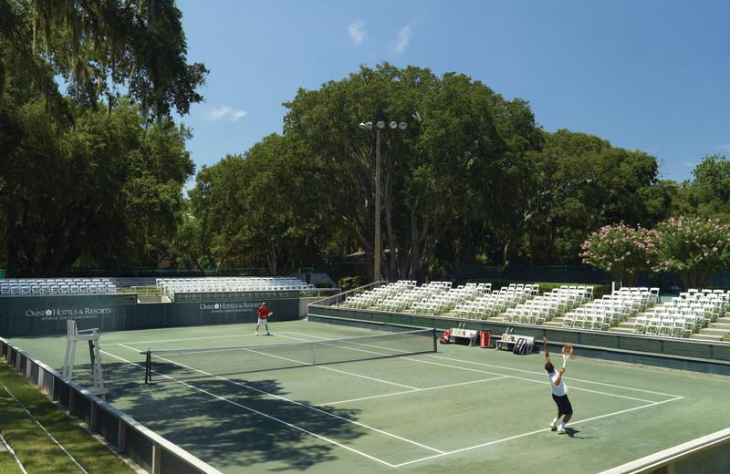 Tennis court at Omni Amelia Island Plantation.
