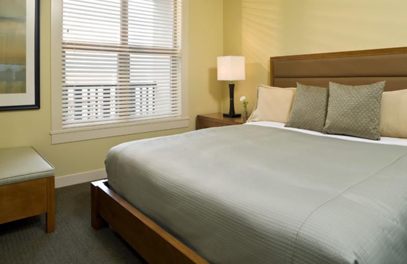 Guest room at Walnut Beach Resort.