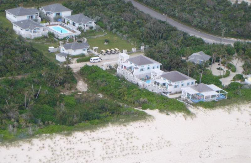 Aerial view of Turtle Hill Vacation Villas.