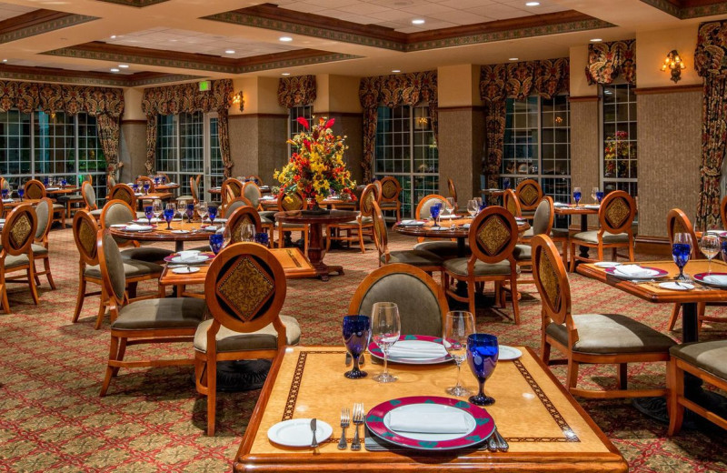 Dining room at Chateau on the Lake.