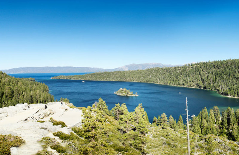 Nearby Emerald Bay in South Lake Tahoe, California