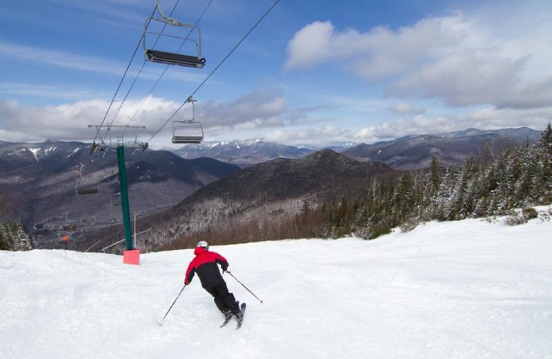 Skiing near Riverbank Motel & Cabins.