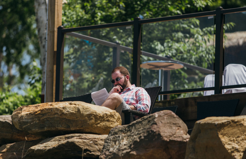 Plenty of spots for quiet contemplation, or to read a good book while vacationing at Footprints.
