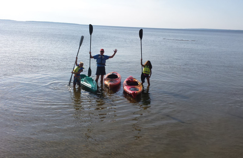 Kayaking at Torbay Cottage Resort.