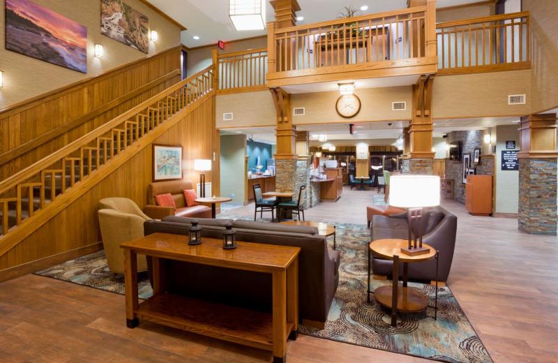 Lobby at Hampton Inn Duluth Canal Park.