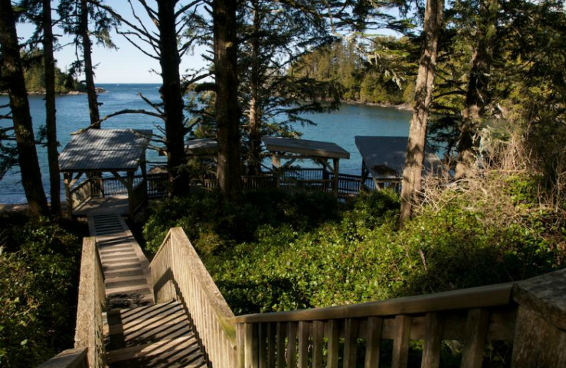 Pathway at The Cabins at Terrace Beach.