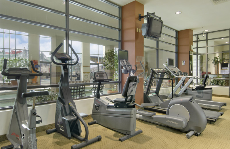 Fitness center at Fairmont Tremblant Resort.