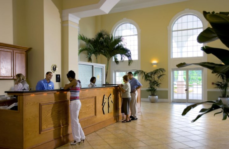 Front desk at Sea Trail Resort.