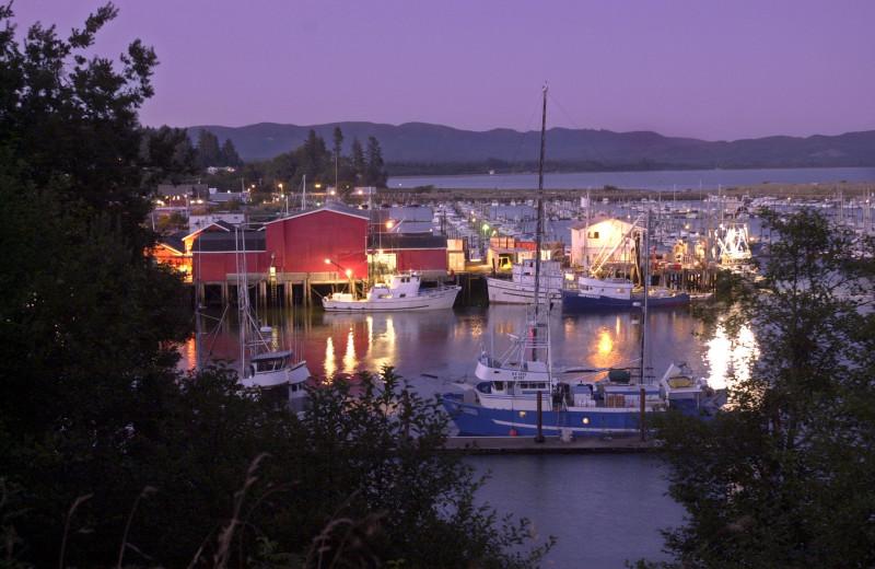 Marina near Oceanfront Getaways.