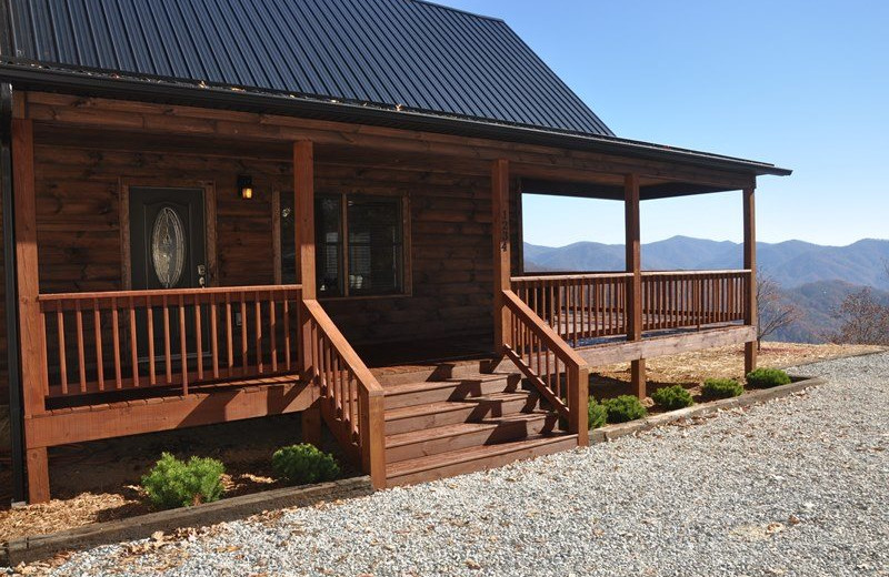 Cabin exterior at Great Smokys Cabin Rentals.