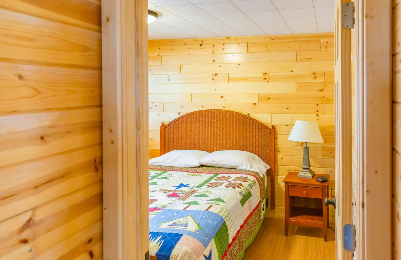 Cabin bedroom at Ten Mile Lake Resort -Otter Tail Country Lakes Tourism.