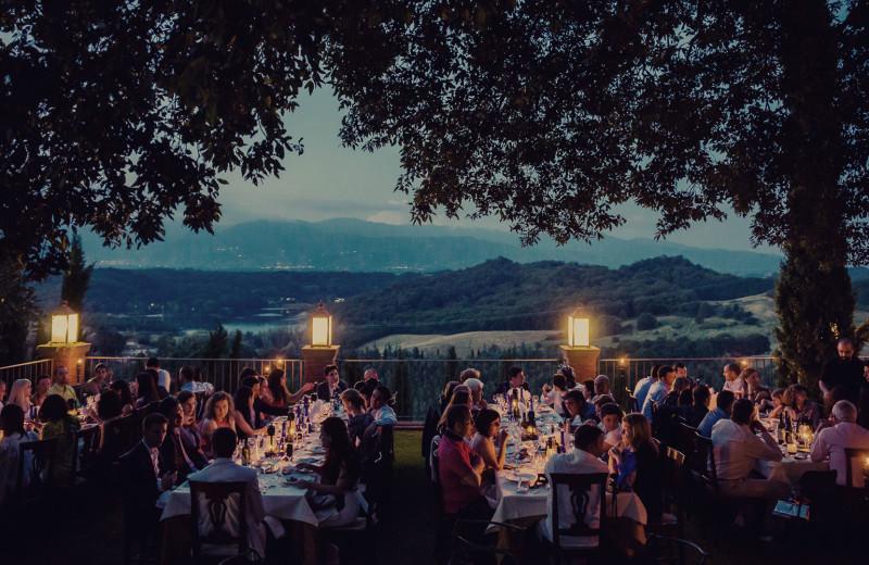 Dining at Villa Barberino.
