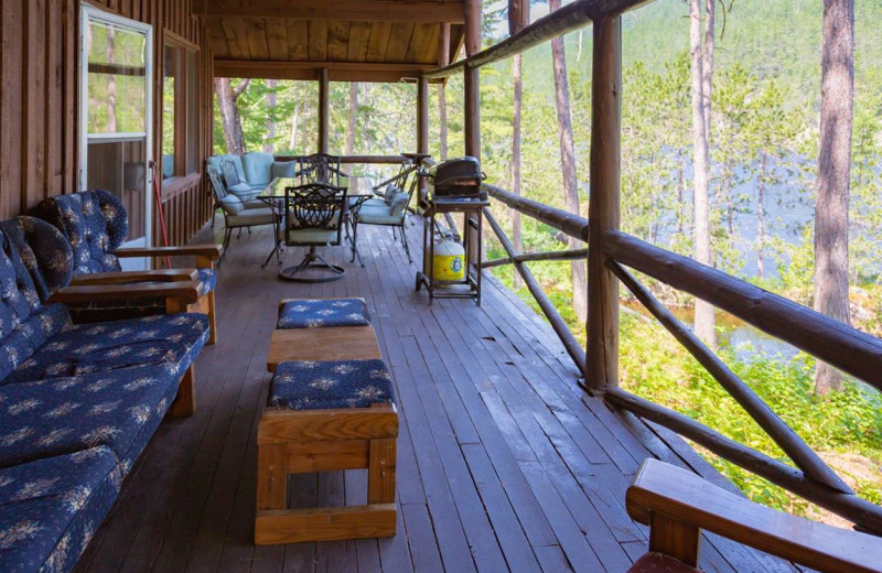 Cottage patio at Mattawa River Resort.