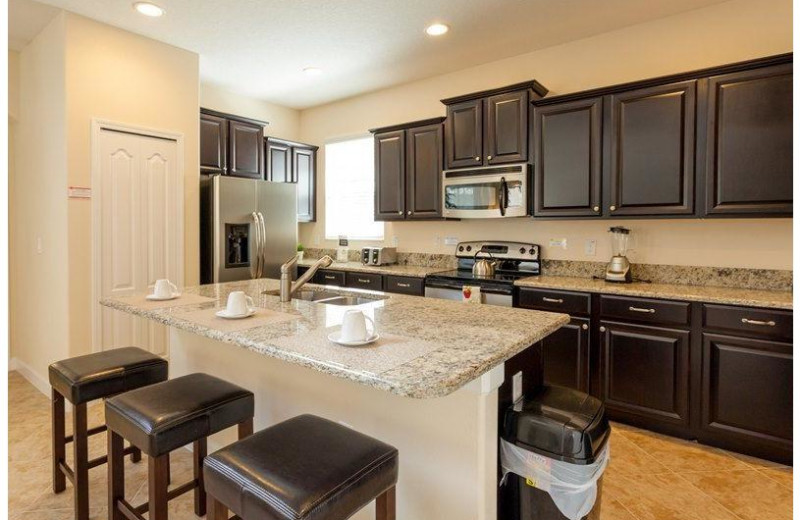 Rental kitchen at Favorite Vacation Homes.