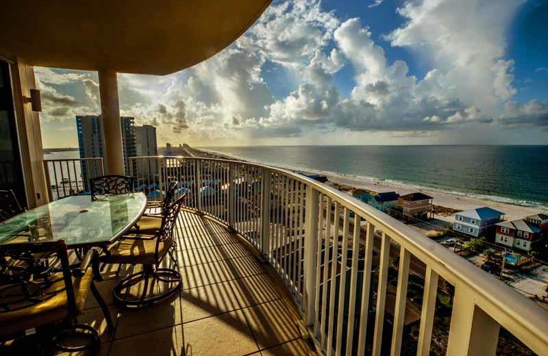 Rental balcony at Luna Beach Properties.