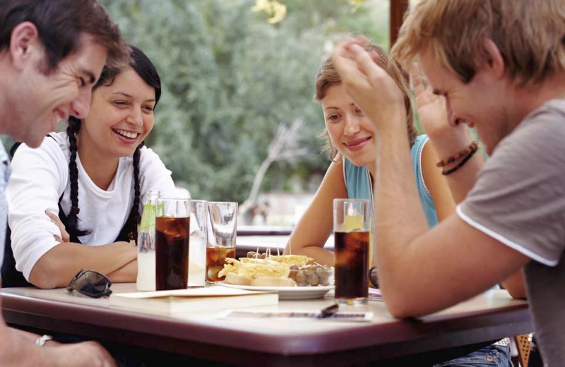 Family dining at East Glacier Motel & Cabins.