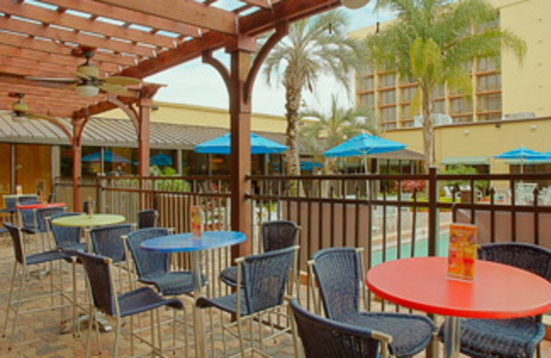 Outdoor Patio at Holiday Inn Main Gate East