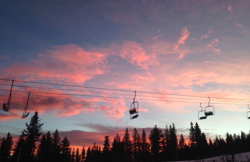 Sunset at Terry Peak Chalets.