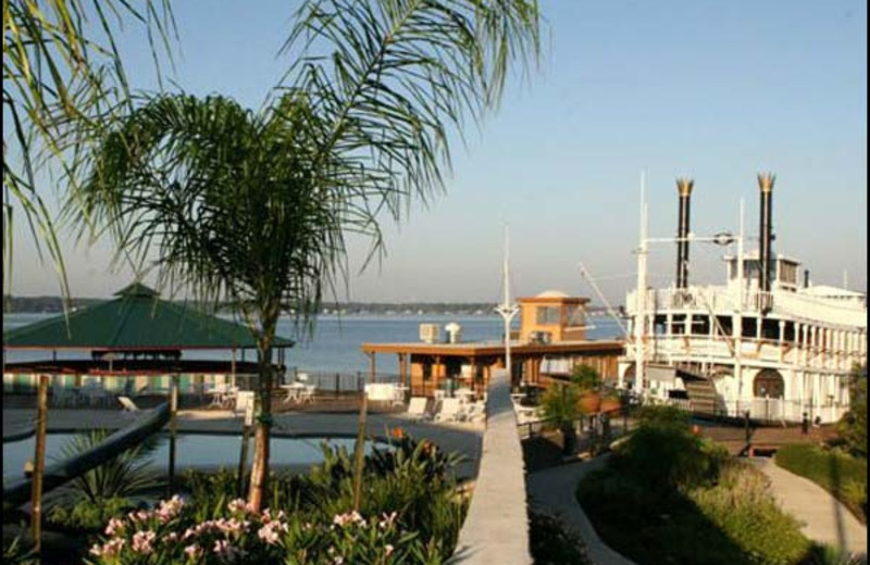 Lake view of Sunset Harbor Resort.