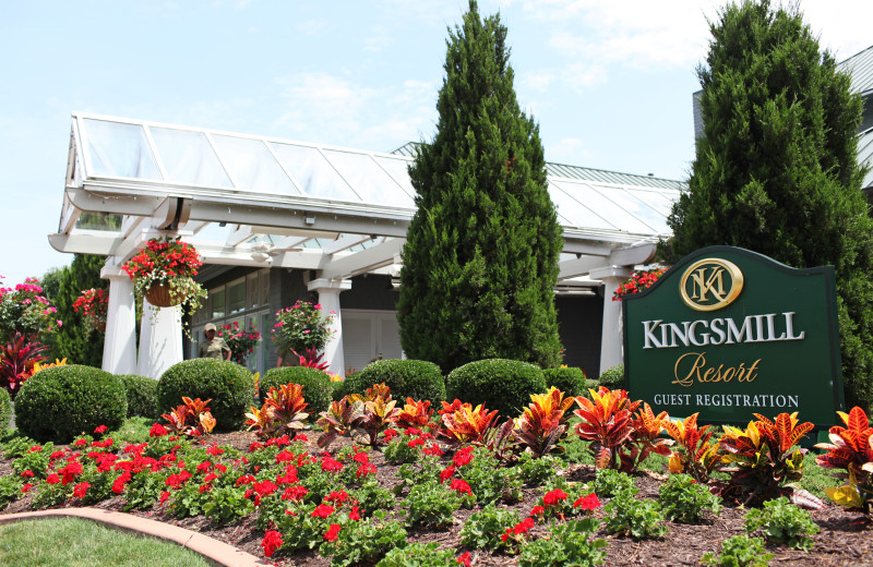 Entrance at Kingsmill Resort.