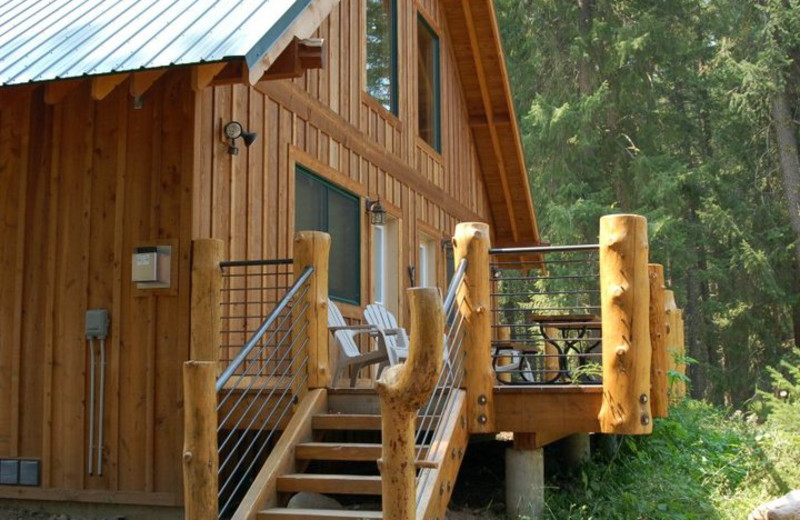 Cabin deck at Timberline Meadows Lodges.