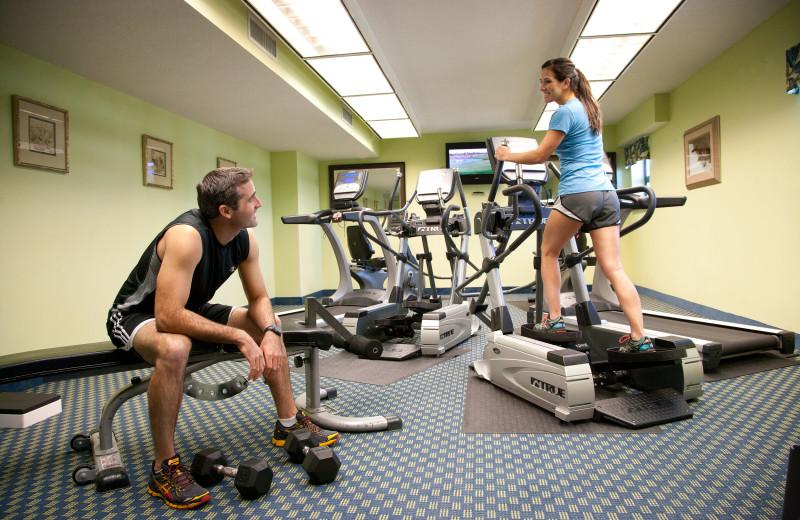 Fitness room at Caribbean Resort & Villas.