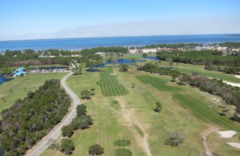 View of golf course at Seascape Resort.