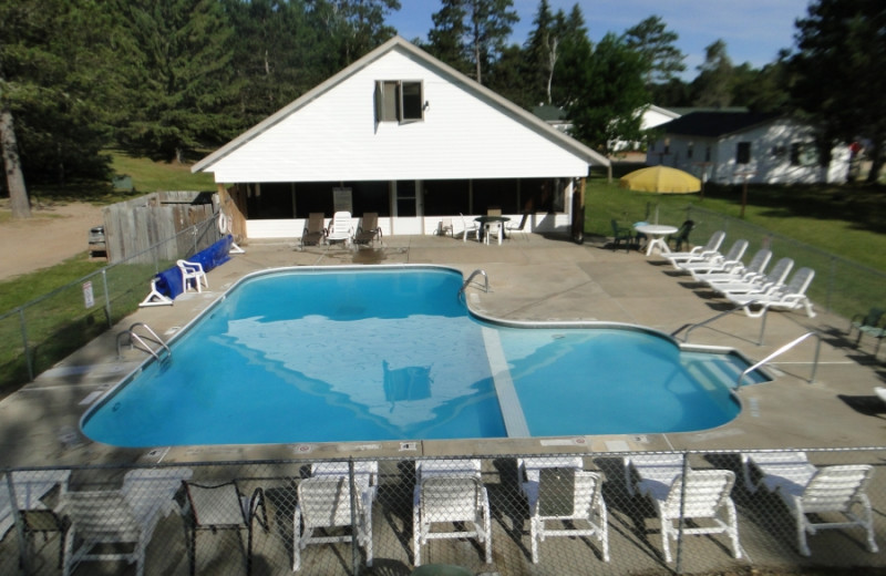 Outdoor pool at Becker's Resort & Campground.