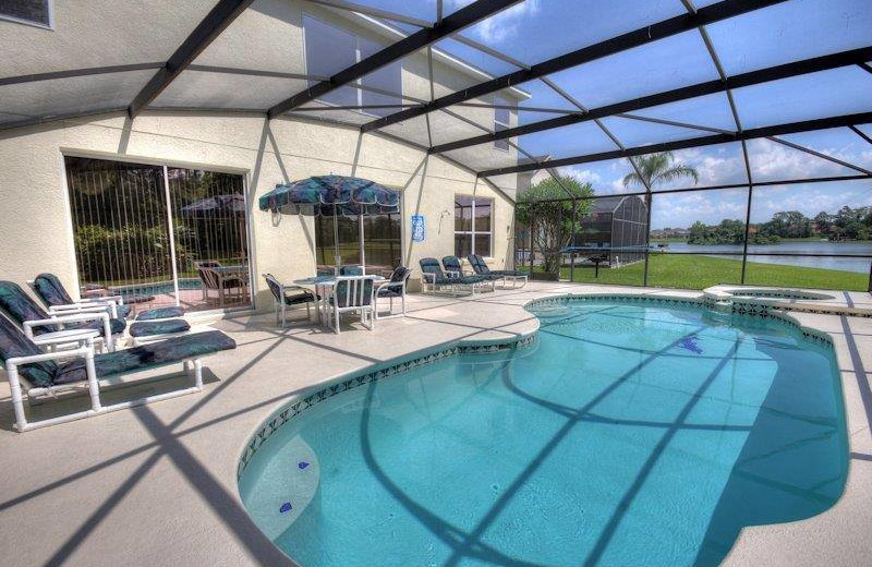 Vacation rental private pool at Elite Vacation Homes.