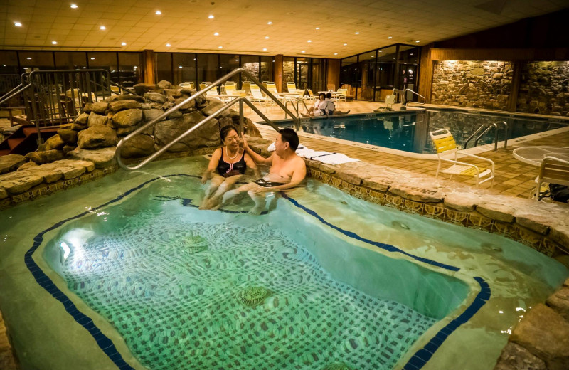 Indoor pool at Cove Haven Entertainment Resorts.