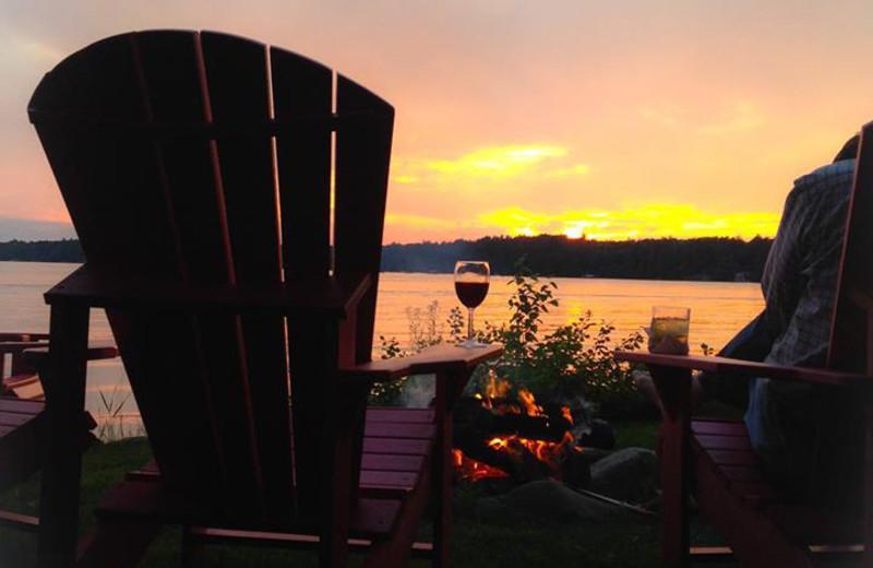 Relaxing by the lake at Chippewa Retreat Resort.