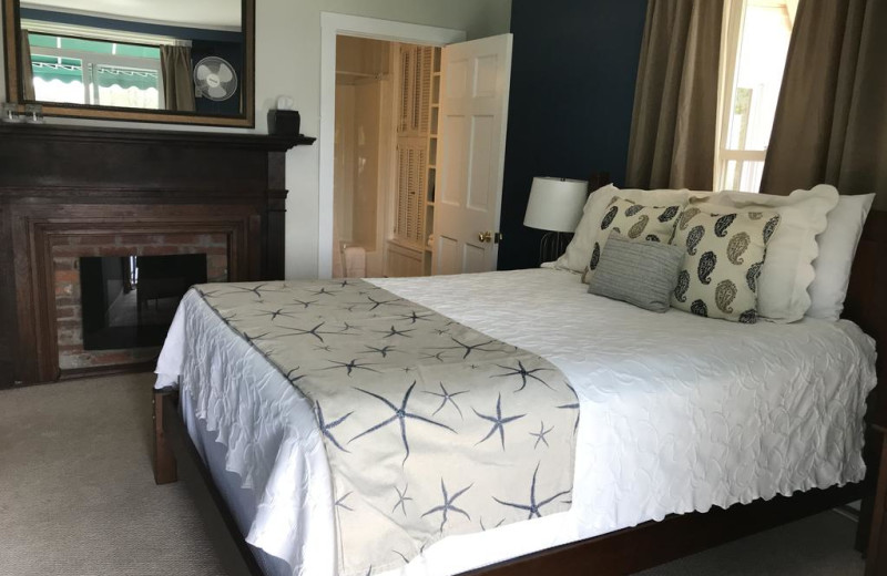 Guest room at The Inns at Greenleaf Lane.