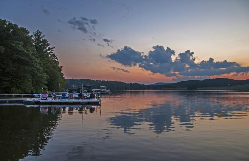 Sunset at Taylor-Made Deep Creek Vacations.