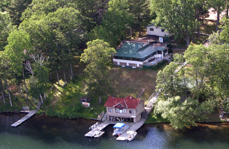 Aerial view of Spot Supper Club & Resort.