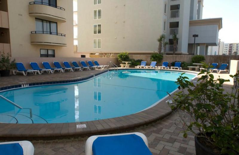 Outdoor pool at Nautilus Condominiums.