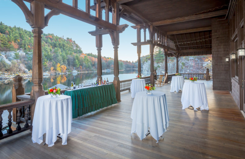 Wedding reception at Mohonk Mountain House.